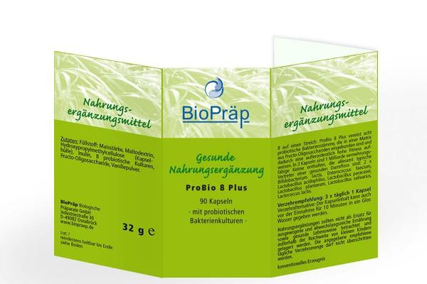 ProBio 8 Plus Kapseln mit probiotischen Bakterienkulturen, 90 Stück