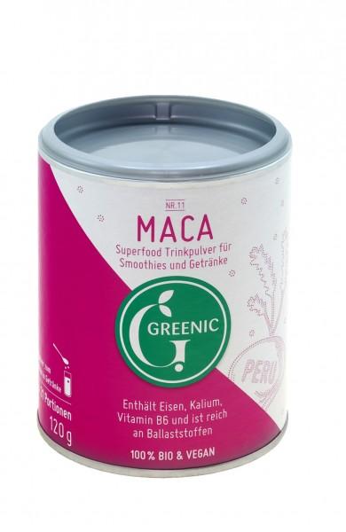 Superfood Maca. Veganes BIO-Trinkpulver aus Peru, 120 g