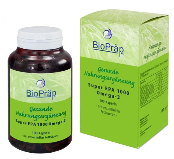 Super EPA 1000 Omega-3 Kapseln mit essentiellem EPA & DHA, 100 Stück