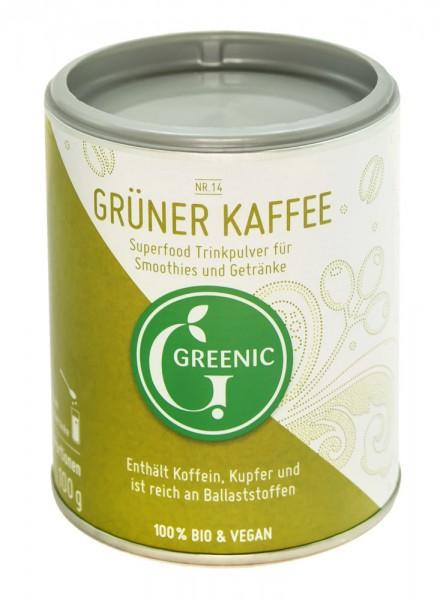 Superfood Grüner Kaffee. Veganes BIO-Trinkpulver, 100 g