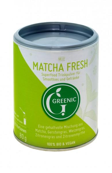 Superfood Matcha Fresh. Vegane BIO-Trinkpulver-Mischung, 80 g