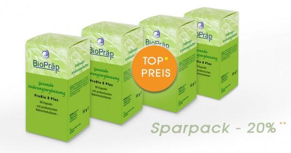 Sparpack -20%: ProBio 8 Plus mit probiotischen Bakterien, 4 x 90 Kapseln.