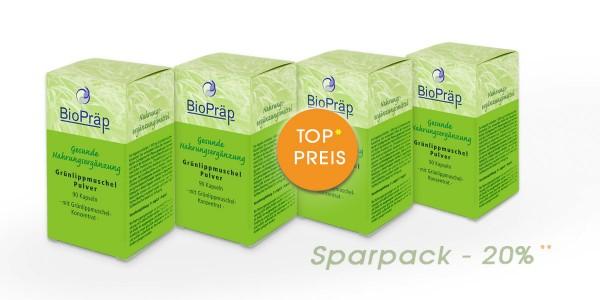 Sparpack -20%: Grünlippmuschel Kapseln: Proteine + Glucosamin, 4 x 90 Stück