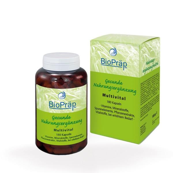 Multivital Kapseln: Vitamine, Mineralstoffe, Spurenelemente, 180 Stück