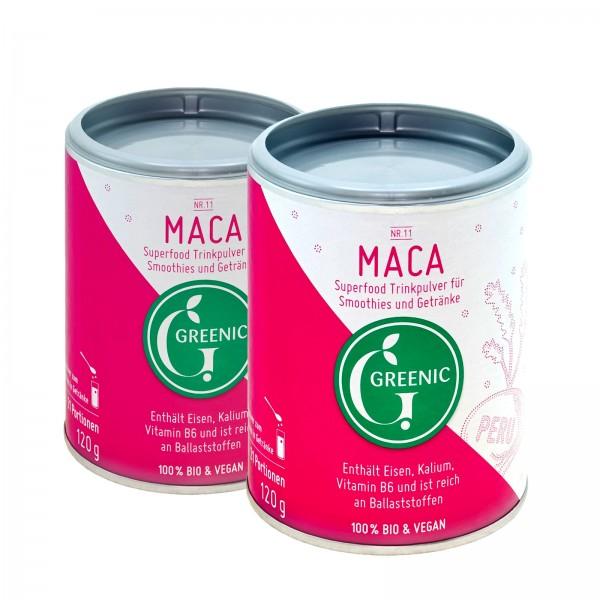 Doppelpack -10%: Superfood Maca. Veganes BIO-Trinkpulver aus Peru, 2 x 120g
