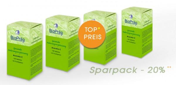 Sparpack -20%: Acerola-C Lutschtabletten mit Vitamin C, 4 x 100 Stück.
