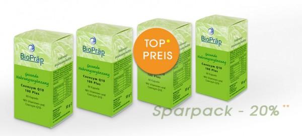 Sparpack -20%: Coenzym Q10-100 Kapseln: Q10 hochdosiert, 4 x 60 Kapseln.