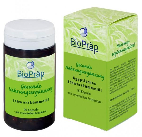 Schwarzkümmelöl-Kapseln, würzig-aromatisch mit essentiellen Fettsäuren, 90 Stück