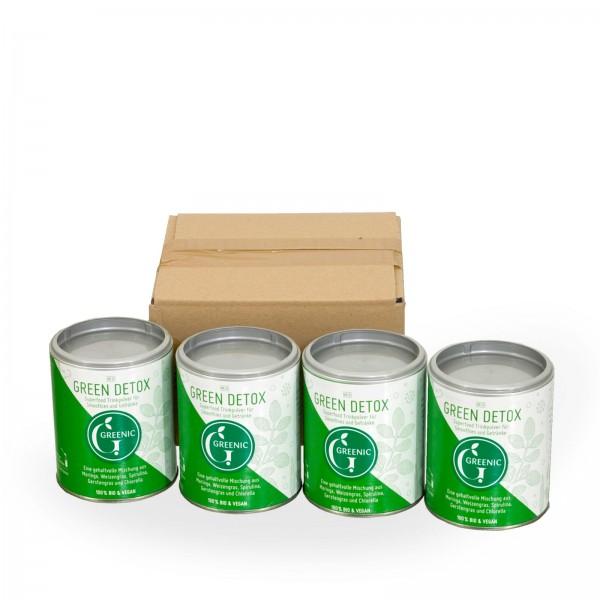 Sparpack -20%: Superfood Green Detox. Trinkpulver 4 x 90g