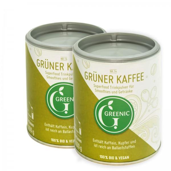 Doppelpack -10%: Superfood Grüner Kaffee. Veganes BIO-Trinkpulver 2 x 100 g