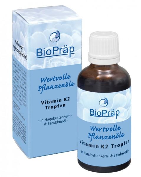 Vitamin K2 Tropfen in Hagebuttenkern- & Sanddornöl, 50 mL