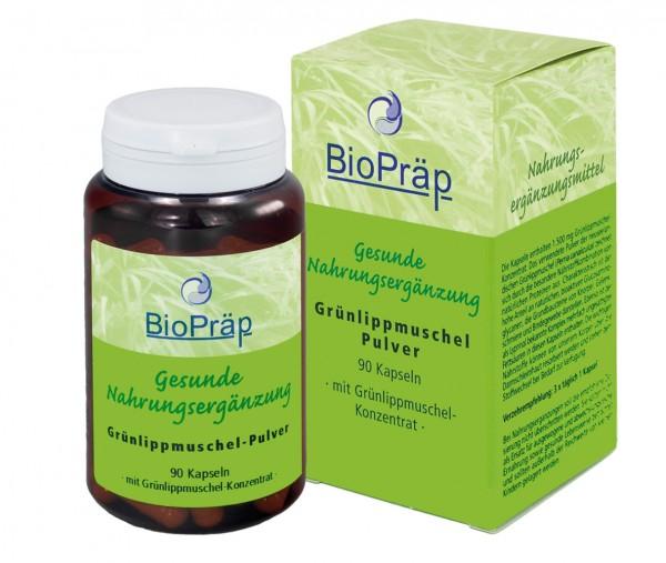 Grünlippmuschel Kapseln mit Proteinen und Glucosaminoglycanen, 90 Stück